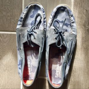 Men's Sperry Top Sider Shoes, Size 11, Blue Camo